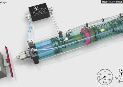 3D Animation Tox Preumatik / Hydraulik – Zylinder