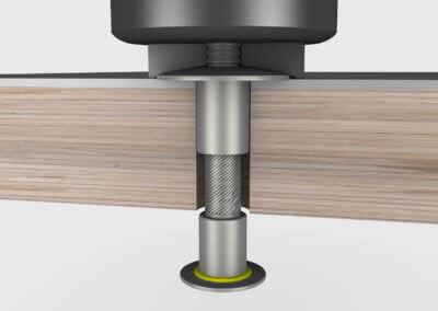 3D Animation Flansch Schließring