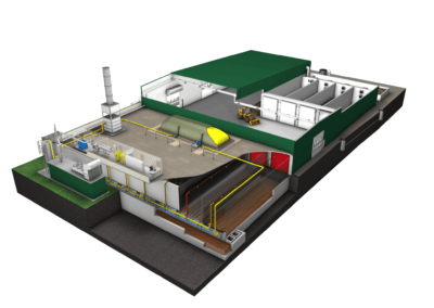 3D Schnittbilder einer Biogasanlage